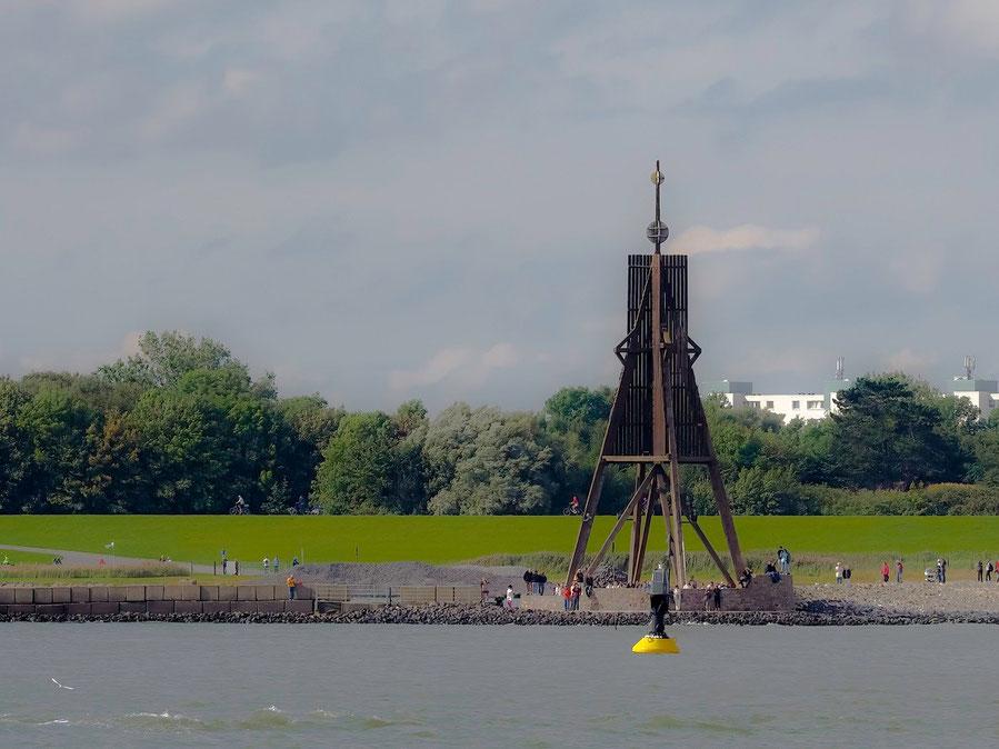 Die Kugelbake, ein Seezeichen und gleichzeitig Wahrzeichen von Cuxhaven