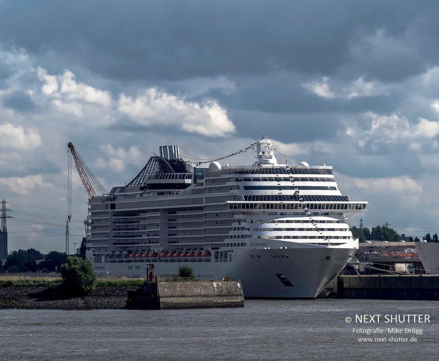 Ein regelmäßiger Gast in Hamburg : MSC Splendida