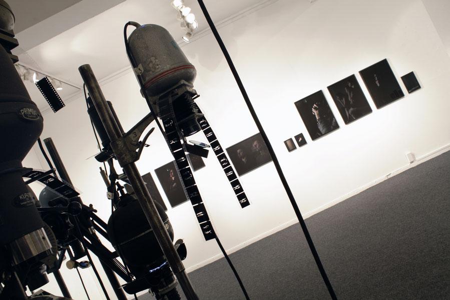 """Ausstellungsansicht, 2017, """"Nirgends doch anders"""", zusammen mit Thomas Bartels, BBK Osnabrück"""
