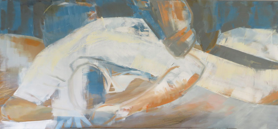 Körper 16 , Öl auf Leinwand, 70x150 cm, 2015