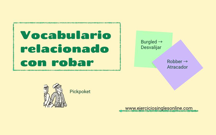 vocabulario relacionado con robar en inglés