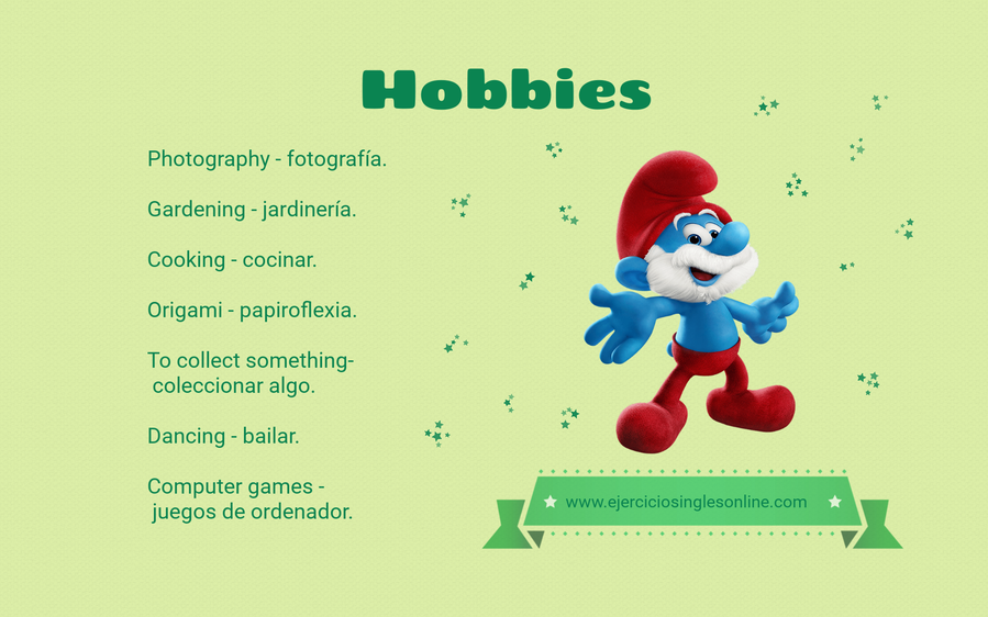 Hobbies en inglés.