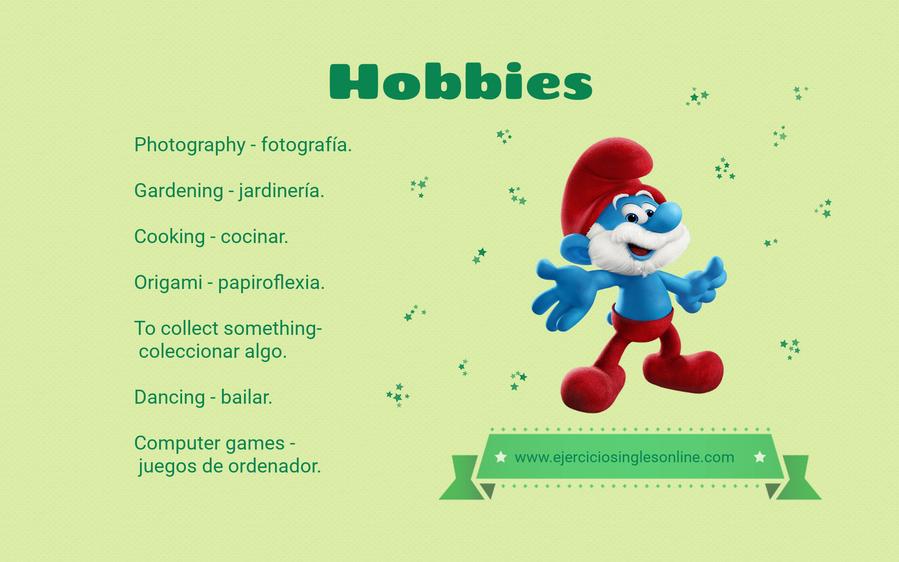 Hobbies en inglés.