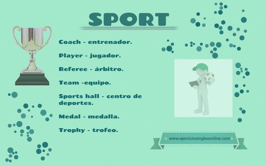 Vocabulario de deporte en inglés