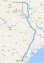 Strecke: 8. Tag (Google Maps)