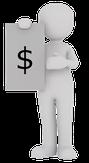 Personnage avec bilan financier