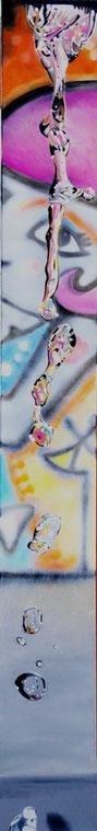 Graffitiwoman (Barcelona) (verkauft) Öl auf Leinwand 180 x 22 cm