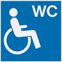 Verkehrsschild Behinderten-WC als Hinweis auf den Erwerb dessen Schlüssels bei der Huntington-Krankheit / Chorea Huntington