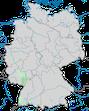 Karte zur Verbreitung der Zaunammer (Emberiza cirlus) in Deutschland.
