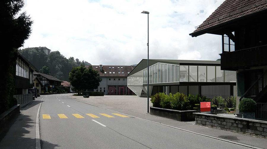Werkhof und Sporthalle Krauchthal, Amrein Kohne