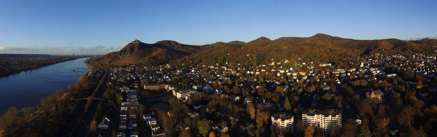 Bad Honnef im Siebengebirge am Rhein, das ideale Urlaubsziel für schöne Ferien im Grünen.