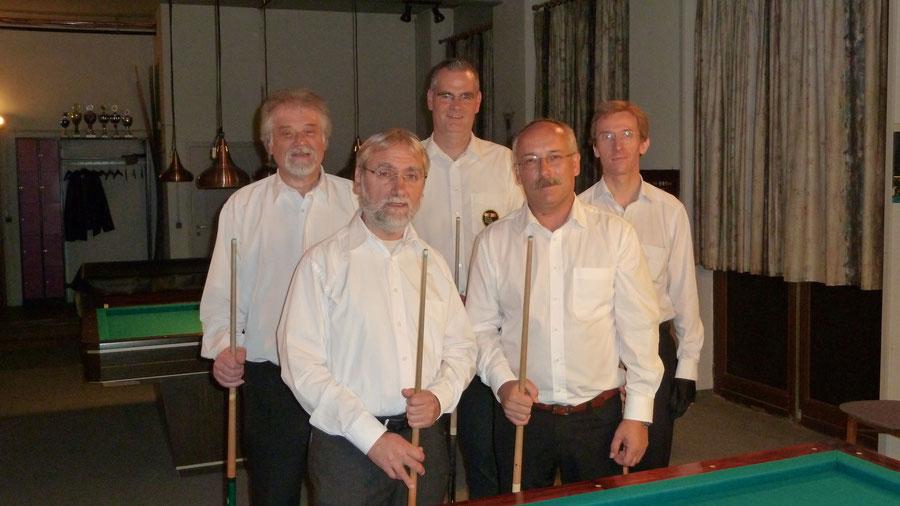 von links: Eduard Thalhammer, Reinhold Augenstein, Norbert Dimmler, Manfred Hill, Ulrich Beuth