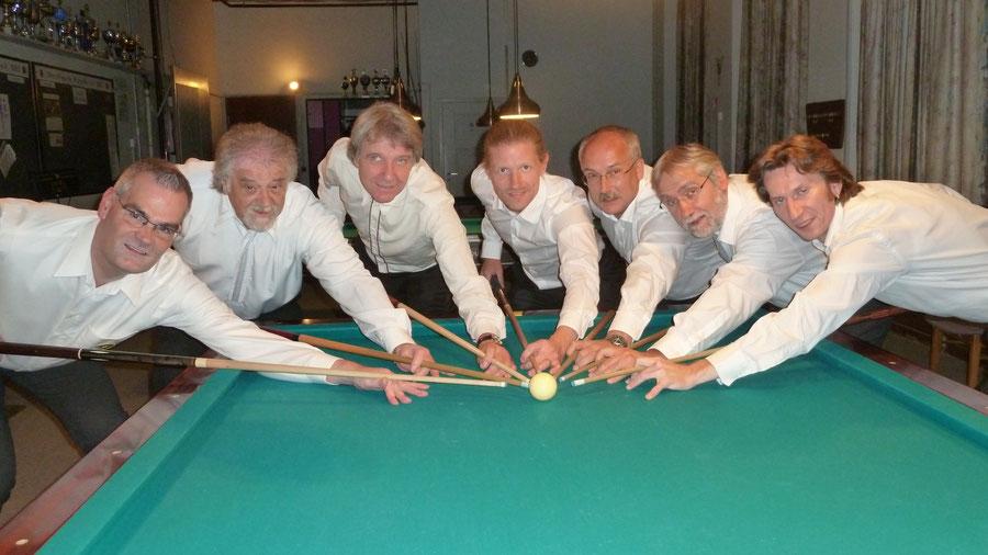 von links: Norbert Dimmler, Eduard Thalhammer, Klaus-Dieter Abraham, Nicolai Wischnowski, Manfred Hill, Reinhold Augenstein, Serkan Evren