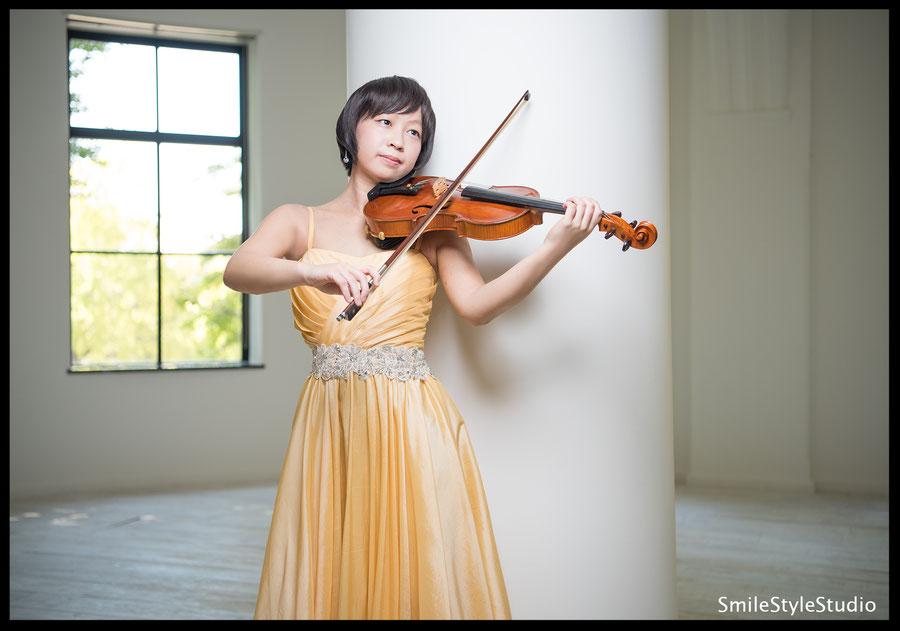 バイオリニストプロフィール写真