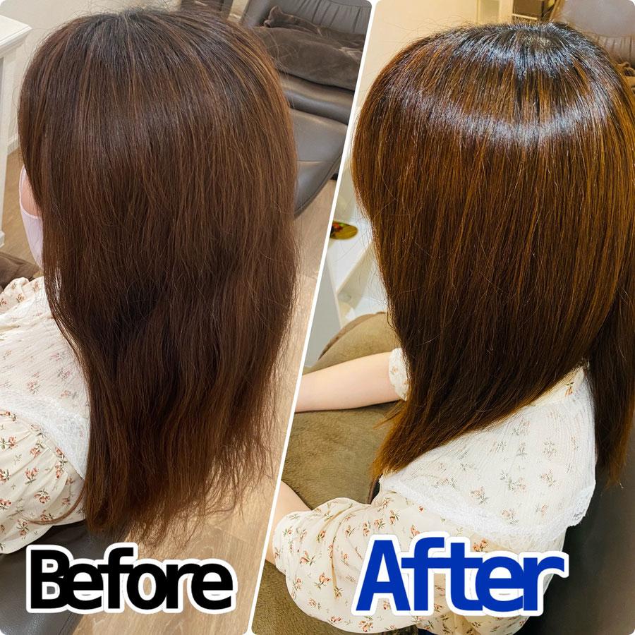 梅雨の髪のパサつき 改善美容室