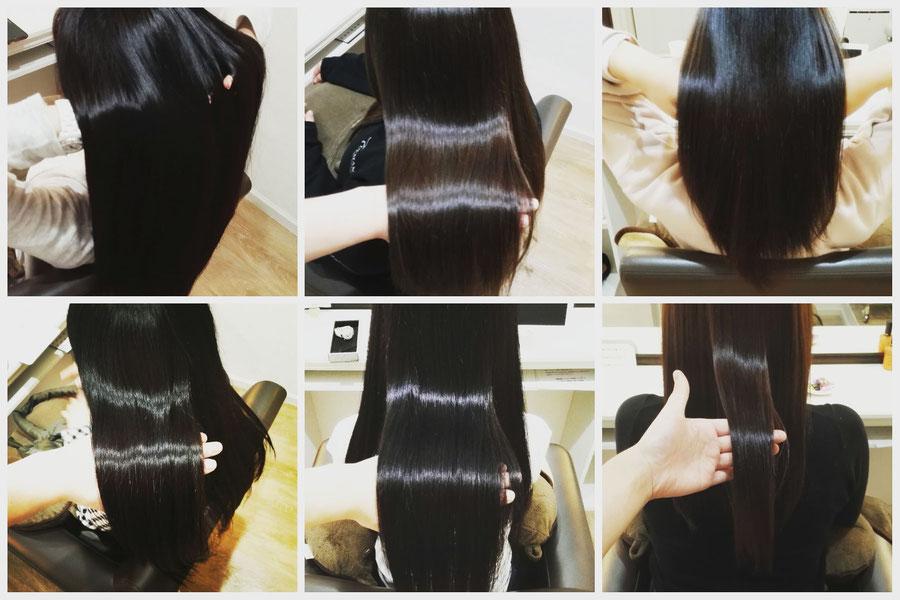 群馬県高崎市の髪質改善美容室ロリポップ 。ツヤ髪画像紹介