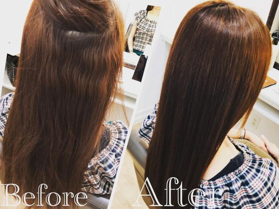 くせ毛、ダメージ、広がりを改善。