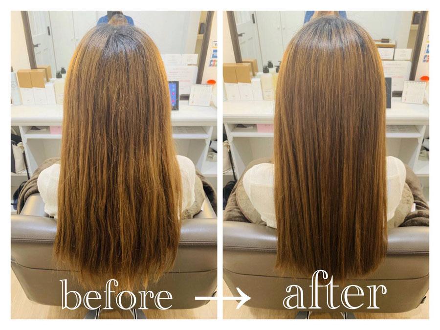 施術例 髪のダメージ改善/群馬県高崎市で人気の髪質改善美容室ロリポップ