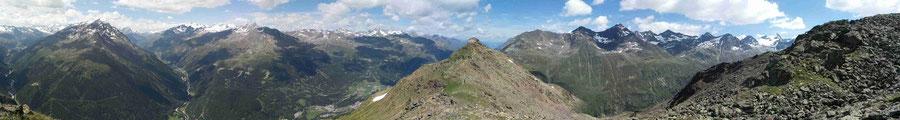 Ötztaler Alpen / Stubaier Alpen / Vent / Panorama