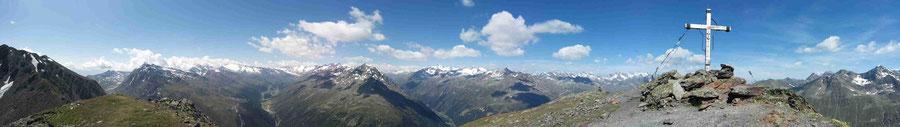 Panoramablick Timmelsjoch