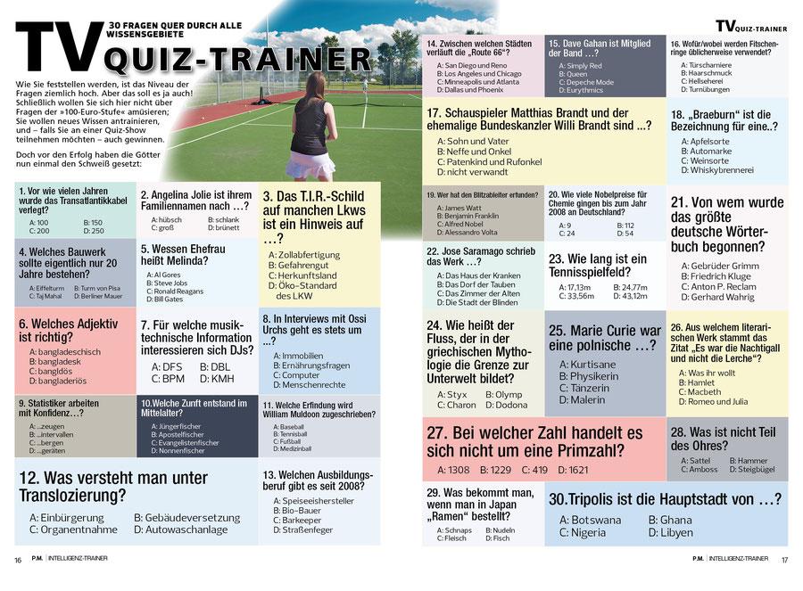 TV-Quiz-Trainer © Rätselbüro Martin Simon