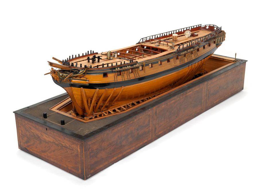 Neuf frégates anglaises furent construites sur ce plan entre 1793 et 1795 (Modèle du National Maritime Muséum)