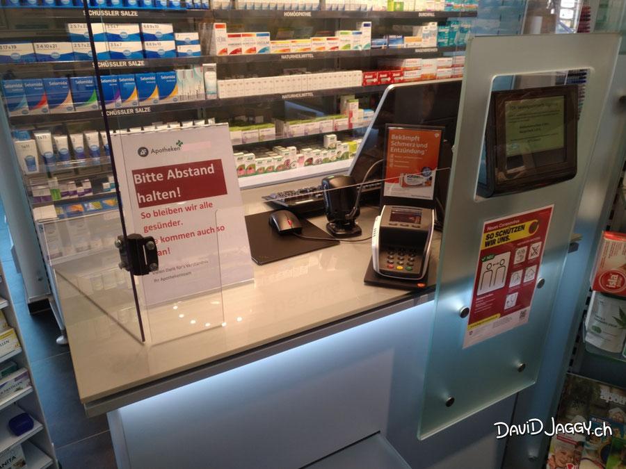 Corona Schutz Hygiene Barriere Schutzwand aus Plexisglas