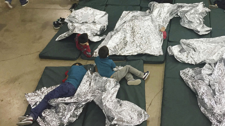 Immigrant children at SW US Border
