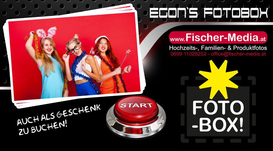 Fotobox für Hochzeit von Egon Fischer - auch Photobooth, Funbox, Fotokiste - der Hit für Hochzeiten, Polterabende, Feste, Feiern und Firmenevents - auch als Geschenk buchbar