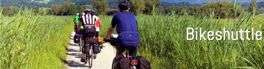 Bikeshuttle Vinschgau Südtirol Gardasee Via Claudia Augusta
