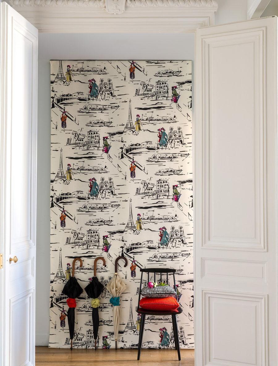 Carta da parati la parisienne canovas italian vintage sofa - Carta da parati di design ...