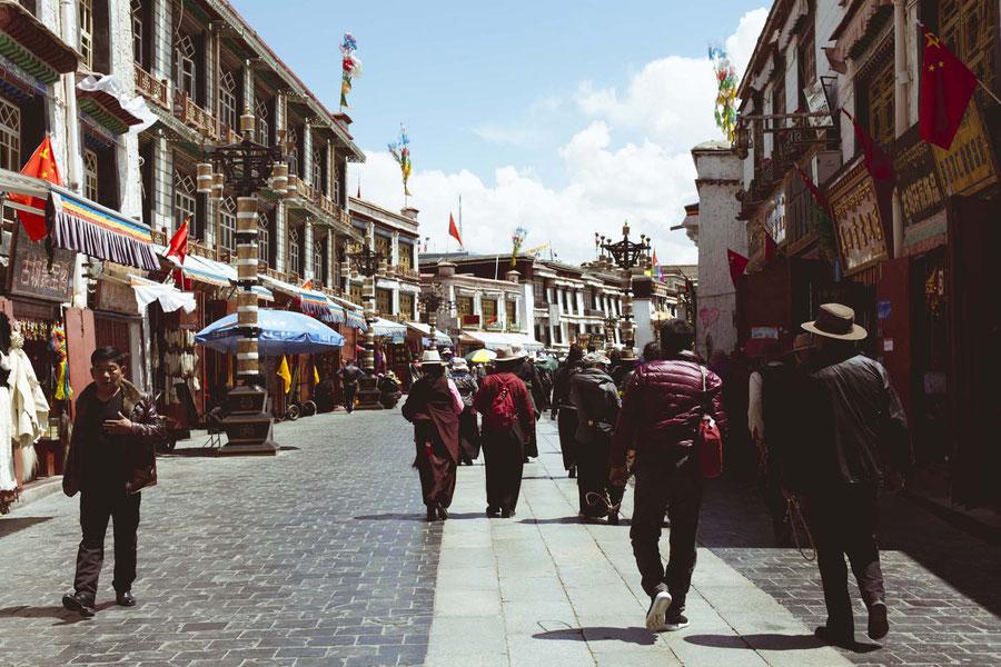 Straßenbild, Lhasa, Tibet, China