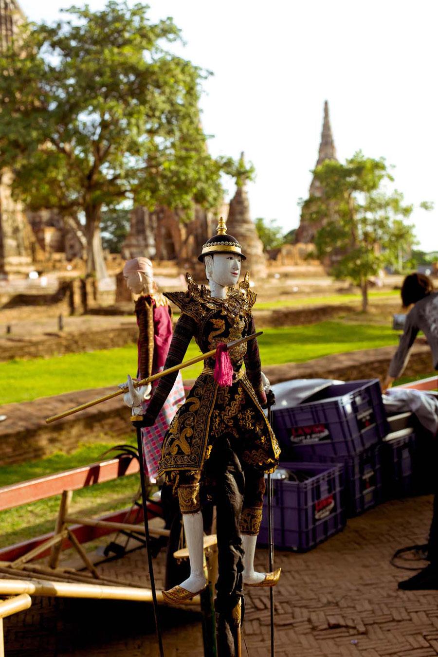 Die tanzenden Puppen, Ayutthaya, Thailand