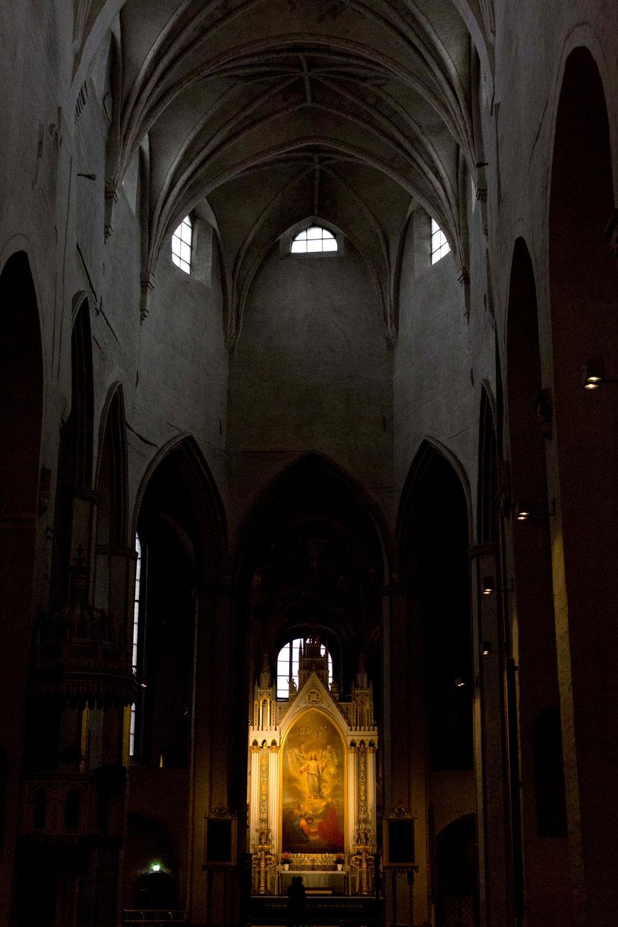 Der Innenraum des Domes in Turku, Finnland