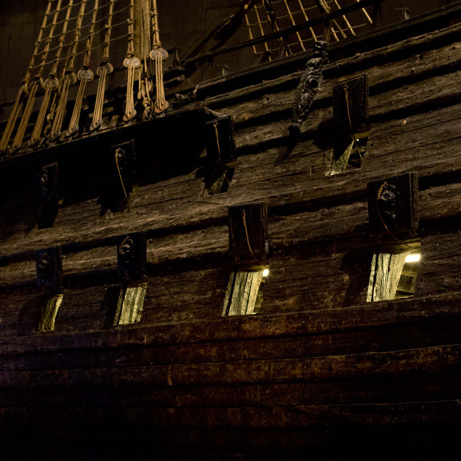 The Vasa lit from the inside, Stockholm, Sweden