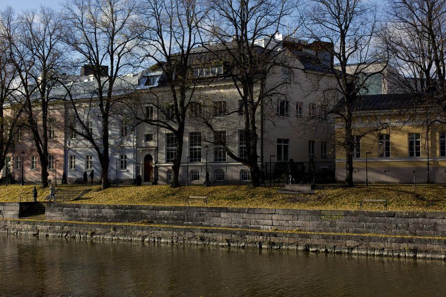 Flussufer, Turku, Finnland
