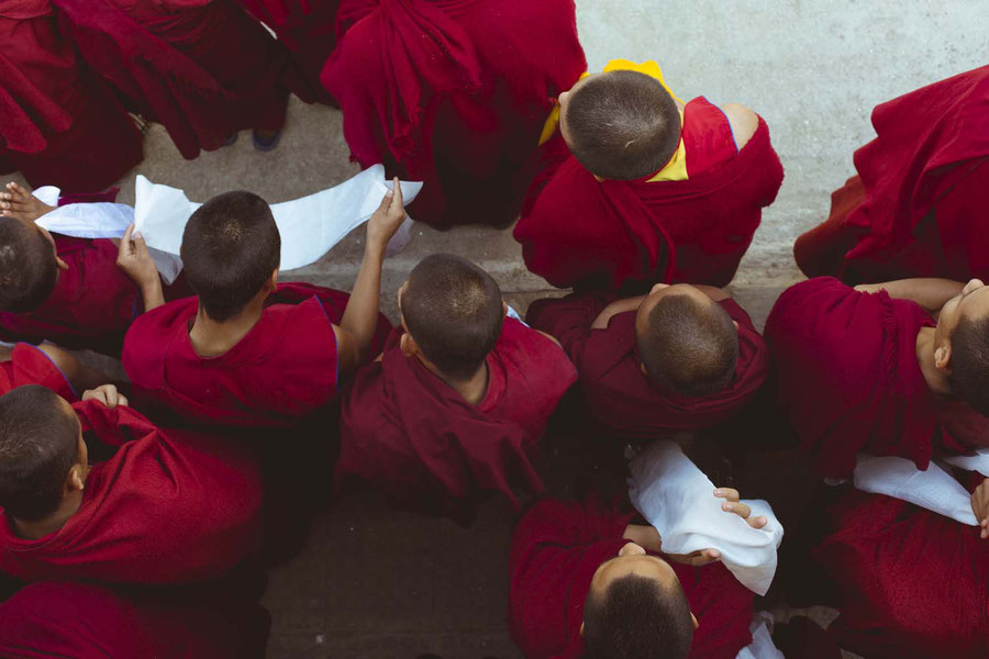 Monks, Kopan monastery, Nepal