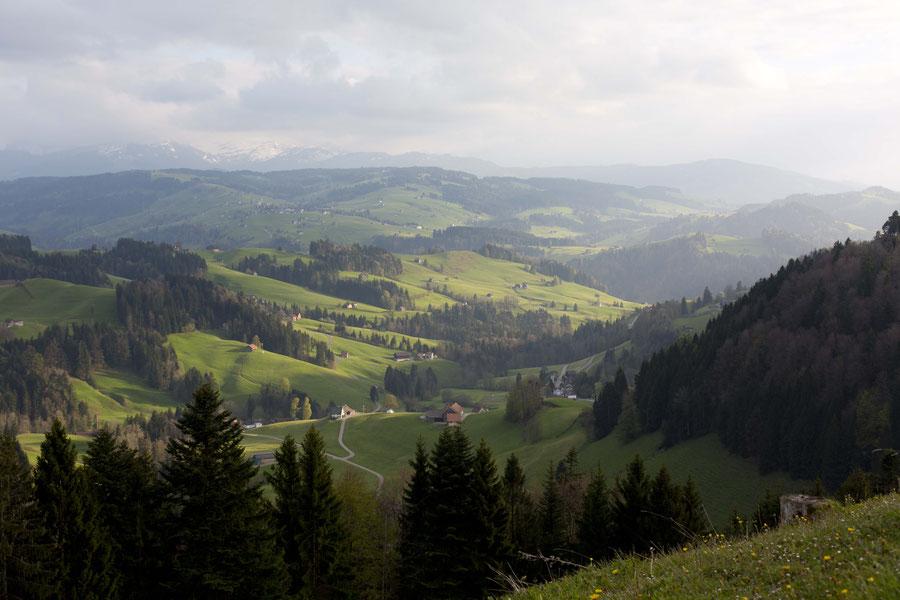 Das Appenzellerland bei Schwellbrunn, Schweiz