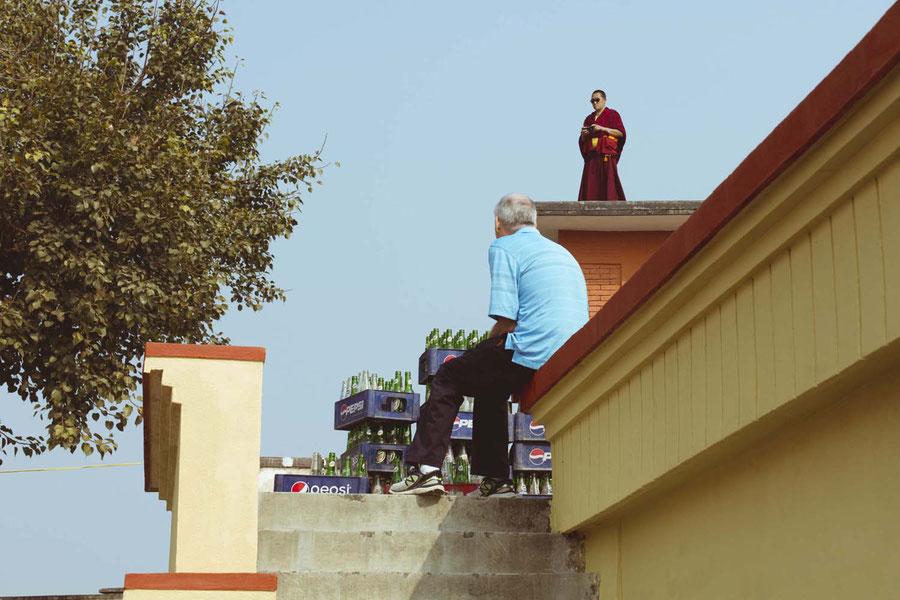 The price of documenting, Kopan monastery, Nepal