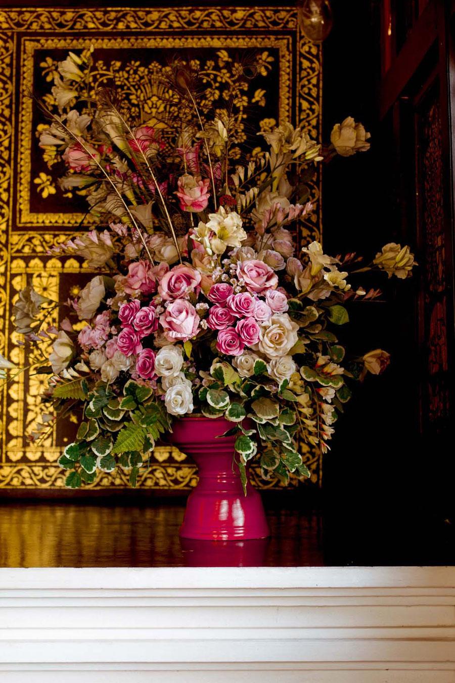 Altar flowers, Chiang Mai, Thailand