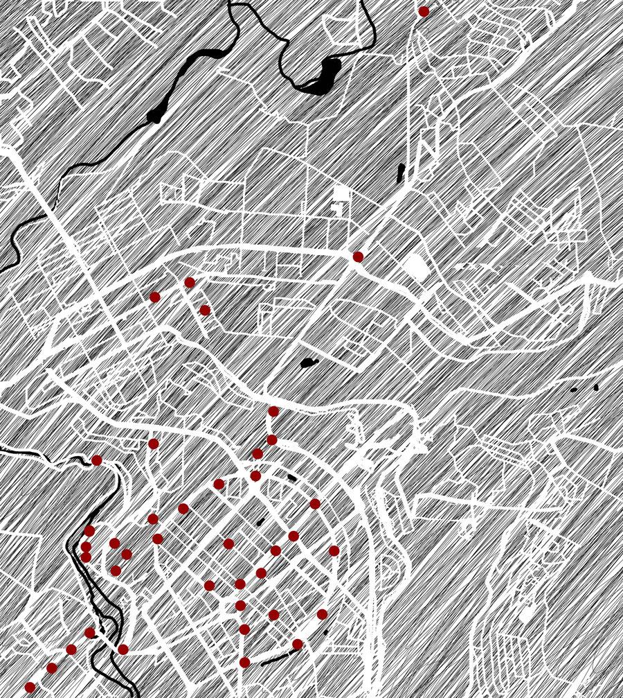 Jerevan city map, Armenia