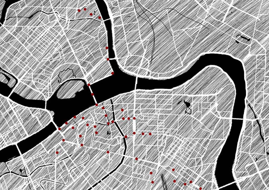 Stadtkarte Sankt Petersburg, Russland
