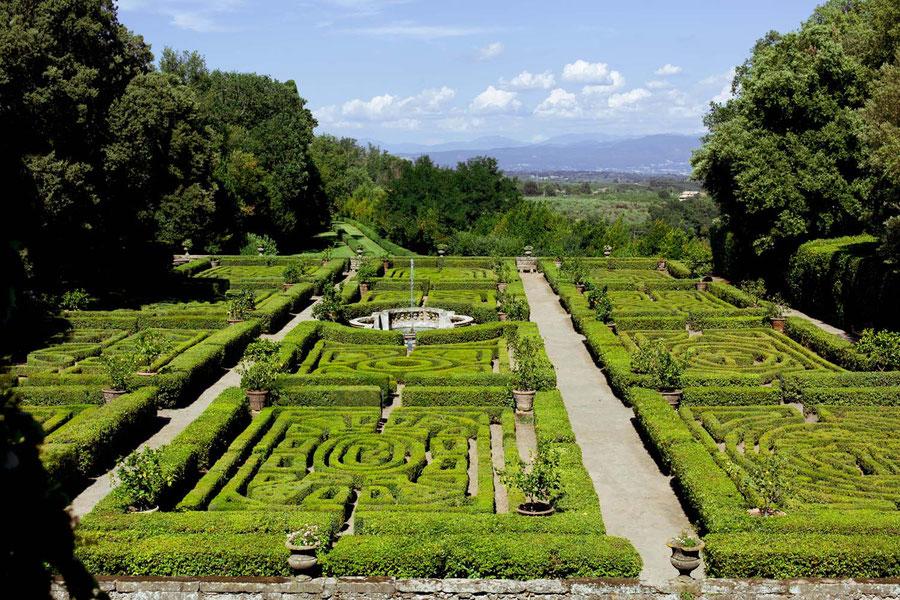 Renaissance Garten, Castello Ruspoli, Italien