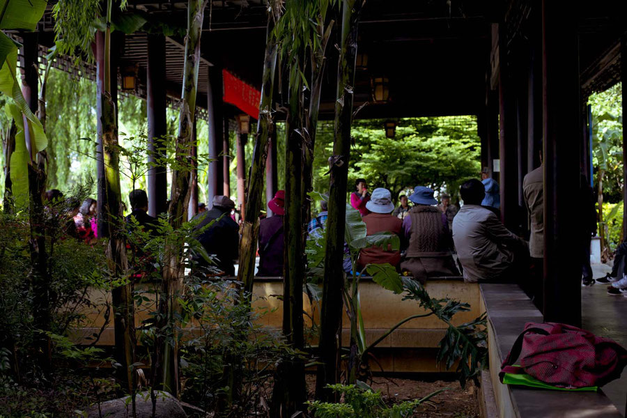 Der Seniorenmusikkreis im Park, Kunming, China