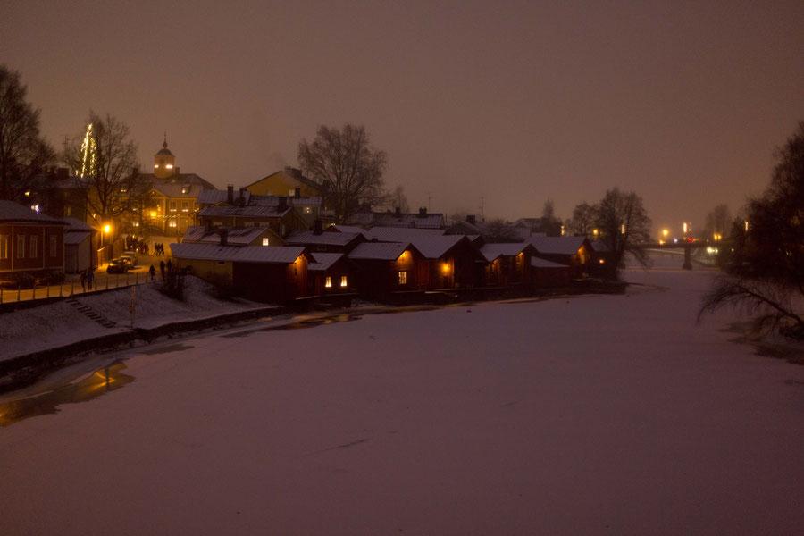 Blick von dem Porvoonjoki, Porvoo, FInland