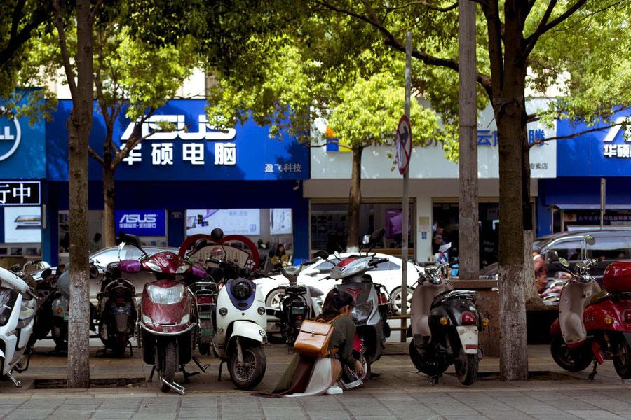Mode of transport of choice, Kunming, China