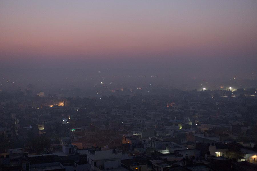 Die rosane Stadt von oben, Jaipur, Indien