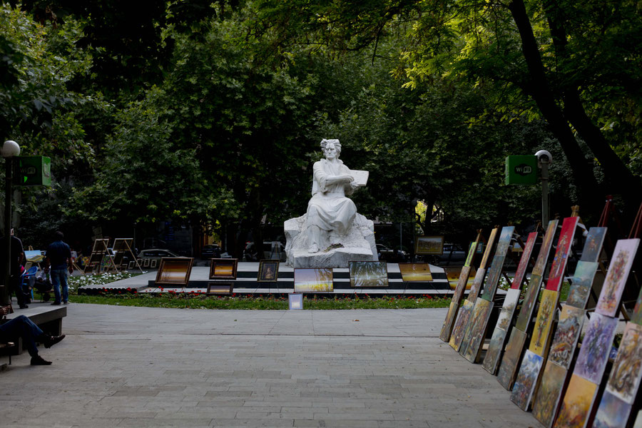 """""""Kitsch und Kram"""" Kunstmarkt in Jerewan, Armenien"""