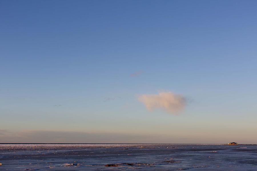 Eisdecke auf dem Meer bei Kalajoki, Finnland