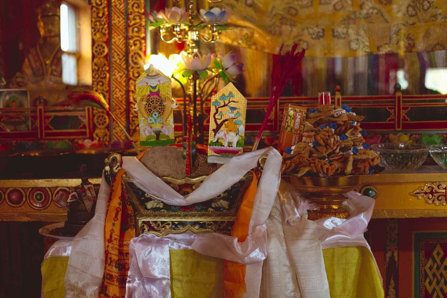 Gaben der Neujahrsgompa, Kopan Monaestery, Nepal